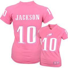 DeSean Jackson Philadelphia Eagles Girls 7-16 Pink Jersey T-Shirt $43.99 http://store.philadelphiaeagles.com/DeSean-Jackson-Philadelphia-Eagles-Girls-7-16-Pink-Jersey-T-Shirt-_1196504099_PD.html?social=pinterest_pfid37-03502