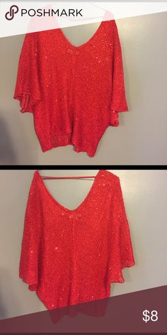 Umgee red sequin top So pretty! Has been worn so maybe one or two loose threads umgee Tops