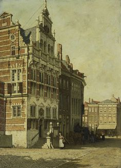 The Town Hall,The Hague,Johannes Christiaan Karel Klinkenberg, oil on panel, h Rijksmuseum.