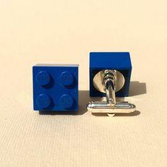 Cufflinks  blue lego. by DanuttaHandGallery on Etsy