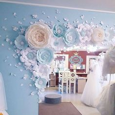 Wedding Paper Flower Backdrop Alternative Paper Flower Arch Paper crafts and paper flowers Paper Flower templates Available in The Crafty Sagittarius Shop in SVG and PDF .So pretty for baby boy or girl nursery. Paper Flower Decor, Paper Flowers Wedding, Flower Wall Decor, Wedding Paper, Paper Decorations, Flower Crafts, Flower Decorations, Wedding Decorations, Backdrop Wedding