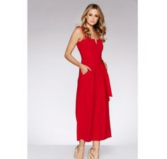 0bd6d920ef51 Quiz Red Wide Leg Culotte Playsuit Size UK 6 rrp 26.99 DH093 AA 05  fashion