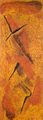 Stefano d'Andrea - pastelli a olio su carta - cm. 13,5 x 36