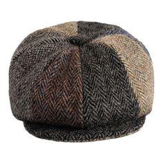 380ee6fe36e Harris Tweed Patch Gatsby Newsboy Cap - Handmade