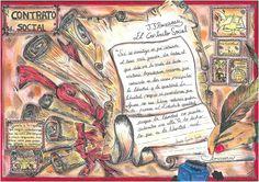 Ilustración de Lucía García (2º de Bacharelato) sobre o texto de J. J. ROUSSEAU, El contrato social, libro II, cap. 11  ©
