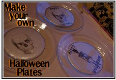 Make Your Own Halloween Plates