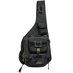 GK Eurosport Canvas Urban Sling Crossbody Backpack Bag (Black) ** Be sure to check out this awesome product.