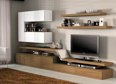 Tv Cabinet Design, Tv Wall Design, Tv Unit Design, Living Room Built Ins, Living Room Tv Unit, Tv Unit Furniture Design, Living Pequeños, Tv Unit Decor, Modern Tv Wall Units