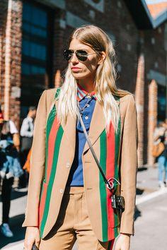 Veronika Heilbrunner wears Gucci