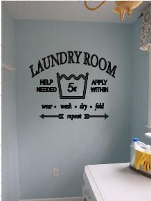 Laundry Room Vinyl Washer Decal Laundry Room Vinyl Wall