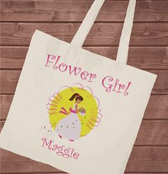Personalize Flower Girl Tote Shopping Cart