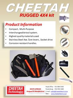 Rugged (4x4 Kit)                                                                                                                      Cheetah Technologies manufacture this high quality 4x4 kit. Use of modern materials and innovative design, this is a must have for any outdoor enthusiast