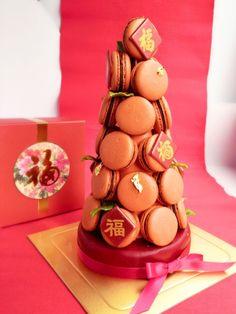CNY Chinese New Year Macaron Tower