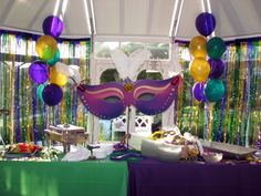 Mardi Gras Party Recipes Ideas | Mardi Gras Themed 40th Surprise Birthday Party July 3rd, 10 | The ...