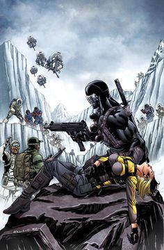 Joe Snake eyes and Helix Comic Book Characters, Comic Books Art, Comic Art, Thundercats, Snake Eyes Gi Joe, Ninja, Cartoon Clip, Cobra Commander, Storm Shadow