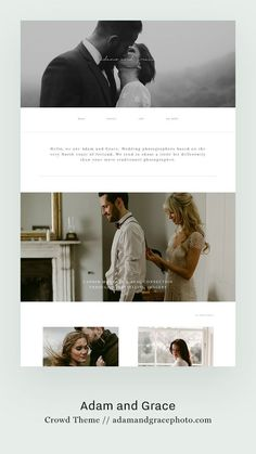 Crowd II - Flothemes - Adam and Grace wedding photography website design by Flothemes, built with Crowd theme. Website Layout, Website Themes, Website Designs, Website Ideas, Event Website, Web Layout, Wedding Website Design, Wedding Designs, Website Design Inspiration