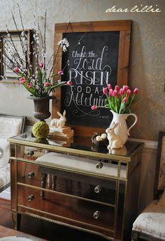 Dear Lillie: Easter Vignette and Chalkboard