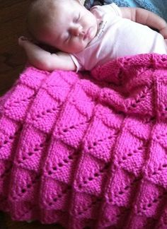 Free Knitting Pattern for Nickerchen Baby Blanket