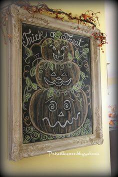 Priscillas: Halloween on the Chalkboard
