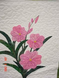 On Sale Quilt twin hand applique floral batik titled My by lsa1sew, $425.00