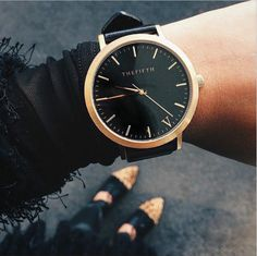 BLACK AND GOLD | The Fifth Watches // Minimal meets classic design: www.thefifthwatches.com