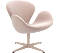 3320 -  Fritz Hansen's Choice Swan™, Nubuck, Dusty Rose, Lacquer