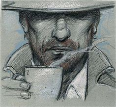 Discover The Secrets Of Drawing Realistic Pencil Portraits Art And Illustration, Illustrations, Bilal Enki, Coffee And Cigarettes, Bd Comics, Pencil Portrait, Drawing Techniques, Art Plastique, Comic Artist