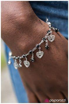 Hearts Desire Black Bracelet