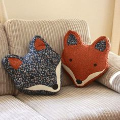 Sewing Pillows, Diy Pillows, Throw Pillows, Pillow Ideas, Cushion Ideas, Fox Crafts, Kids Crafts, Sewing Crafts, Sewing Projects