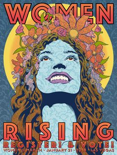 Chuck Sperry, Poster for Women's March front), For the Women's March in Las Vegas and Washington, DC on January All profits went to Planned Parenthood. Political Posters, Political Art, Poster Prints, Art Prints, Beautiful Posters, Rock Posters, New Poster, Advertising Poster, Psychedelic Art