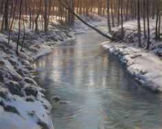 portfolio of the oil landscape paintings and prints of artist John MacDonald of the Berkshires in Williamstown Massachusetts. Winter Landscape, Landscape Art, Landscape Paintings, Painting Snow, Winter Painting, Nature Paintings, Cool Paintings, Pastel Paintings, Great Works Of Art