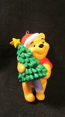 Winnie The Pooh Christmas Ornament Holding Tree