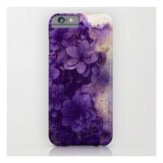 Purple Flowers iPhone & iPod Case ($35) ❤ liked on Polyvore featuring accessories, tech accessories and iphone & ipod cases