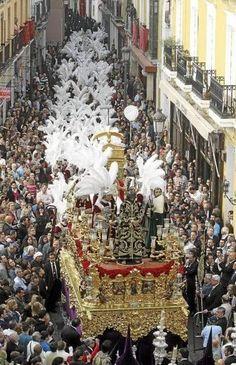 PASO DE LA SENTENCIA POR CALLE FERIA Bride Of Christ, Palm Sunday, Holy Week, Corpus Christi, Andalusia, Weird And Wonderful, Old Art, Virgin Mary, Holy Spirit