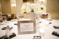 Boho Chic Classic Formal Hollywood Glam Silver White Calla Lily Centerpiece Centerpieces Dahlia Indoor Reception Wedding Flowers Photos & Pictures - WeddingWire.com