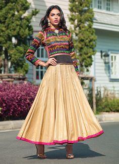 Cotton Silk Ankle Length Anarkali Suit