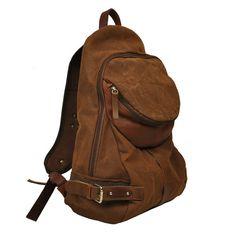 Stonewashed italian canvas leather backpack Nota by iyiamihandbags, $122.00