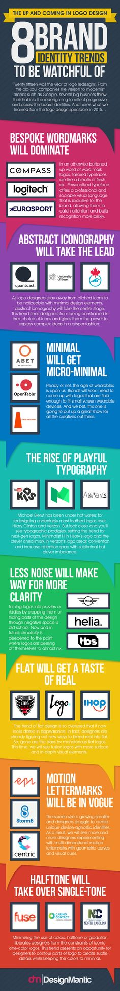 8 Interesting Logo Design Trends to Watch For   #infographic via @HubSpot