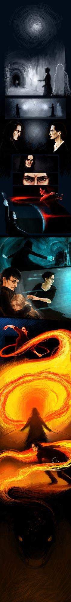 Deathly Hallows Fight part 1 by ehay.deviantart.com on @deviantART