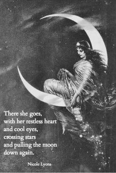 There she goes... With her restless heart and cool eyes, Crossing stars...