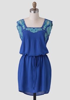 Carmen Embroidered Dress