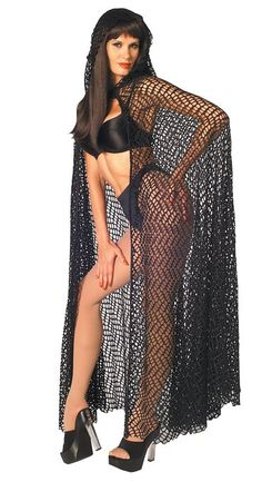 Rubie's Costume Fantasy Net Cape, Black, One Size