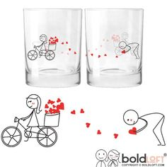 BOLDLOFT All My Love for You His and Hers Drinking Glasses-Christmas Gifts for Boyfriend or Husband, Gifts for Couples,Valentines Day Gift for Boyfriend, Gifts for Him, Anniversary Gifts for Him  Price: US $33.99 & FREE Shipping  #kitchen #love #home #lovedkitchen