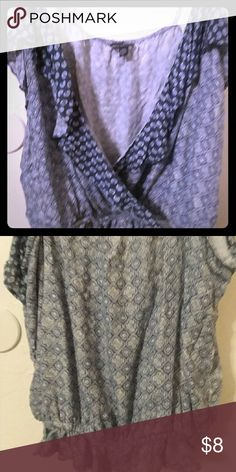 Comfortable & fun. Never been worn. Pretty and relaxing summer shirt to wear with shorts or jeans and it'll look great. American Eagle Outfitters Tops Tank Tops