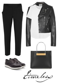 """""""Rag & Bone Meli Leather Brogues"""" by mrs-box ❤ liked on Polyvore featuring Balenciaga, Tod's, Yves Saint Laurent, rag & bone and Madewell"""