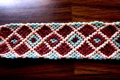Multi-colored Checkered Macrame Woven Friendship Bracelet by TheGringaHippie on Etsy