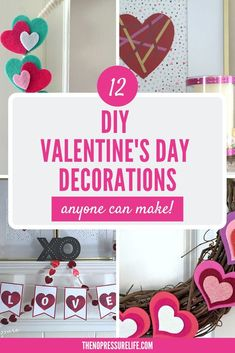 If you're looking for DIY Valentine's Day decorations for the home, you'll be surprised to find out how easy it is to make these crafts! #valentinesday