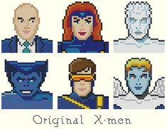 Original Xmen Cross Stitch Pattern-Professor by KeenahsCrossStitch