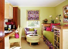 Adapt a Dual-Purpose Room - great idea for guest/sewing/craft room!