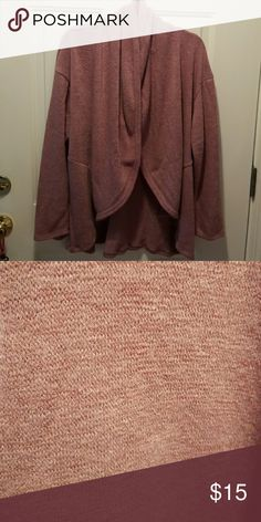 Dusky purple cardigan with shawl collar Pretty purple sweater with a shawl collar. Worn once. Open front Sweaters